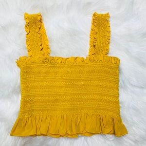 Forever 21 | Yellow Elastic Tank